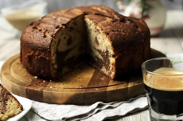 Fragrant: Tahini Marble Cake Recipe